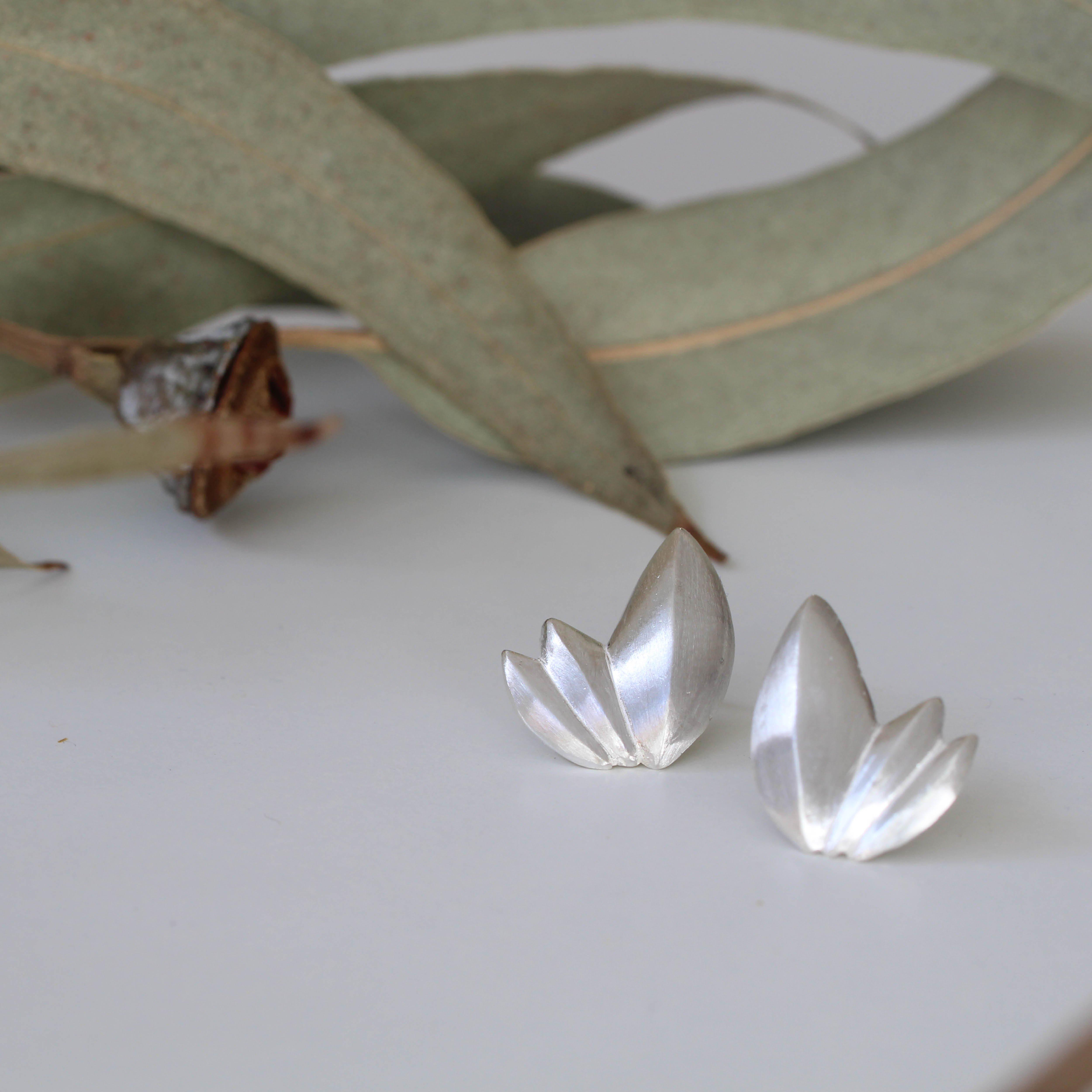 Pendientes semilla en plata, de MIGAYO