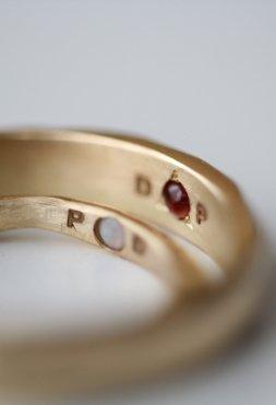 Alianzas de boda transformadas por el fuego - MIGAYO, joyas a medida