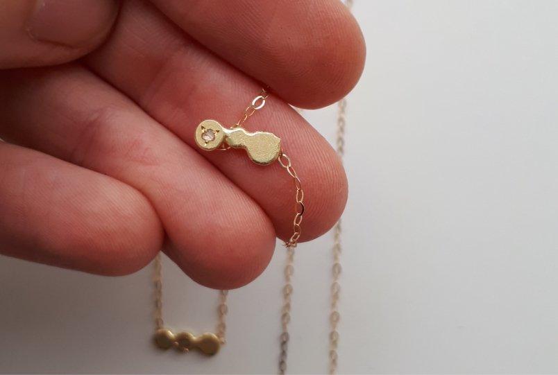 colgantes fusionados para tres hermanas - joyas con historia de MIGAYO