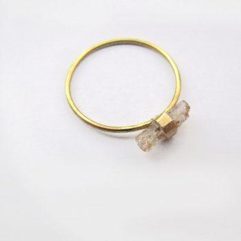 Migayo anillo con topacio