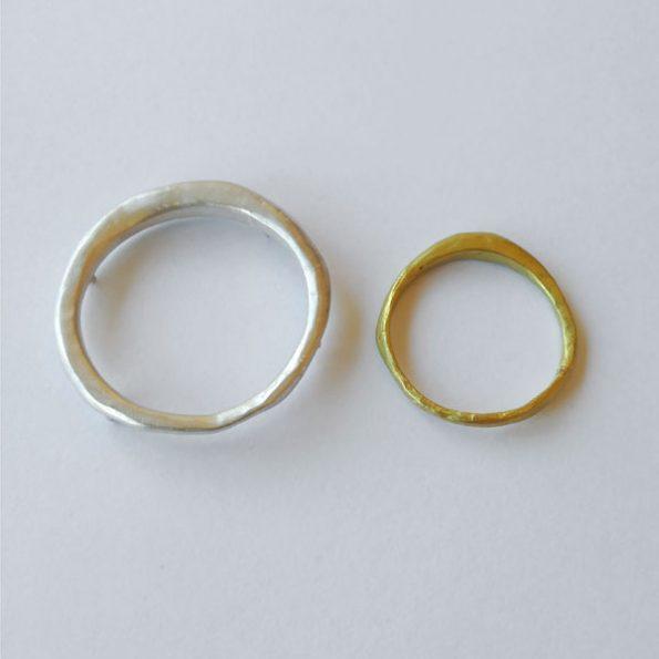 Alianza y broche de boda Mareas - Migayo