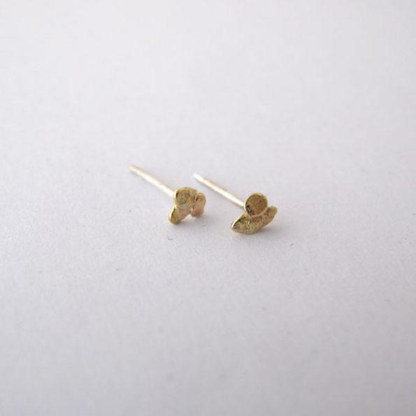 Pendientes oro pebble migayo